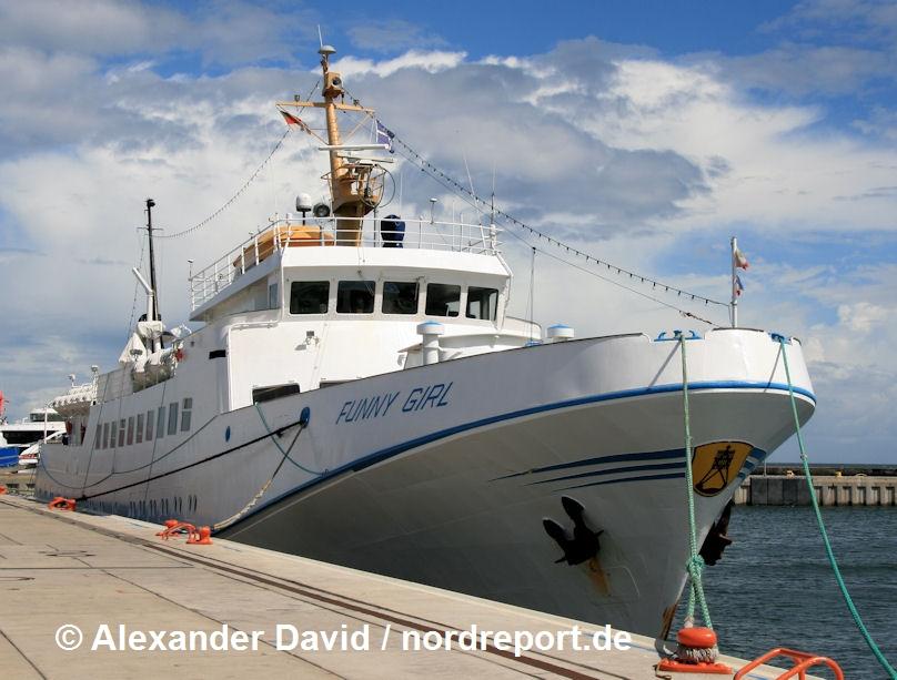 Passagierschiffe im Helgolanddienst 2018, 2. Halbjahr
